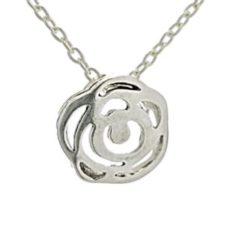 Gargantilla mini flor de plata (4)