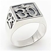 ecf33d2c40a4 Anillo símbolo de Om. Joya tipo sello fabricada en plata de ley 925 mls.  Peso del anillo  6.2 gramos. Medidas  .