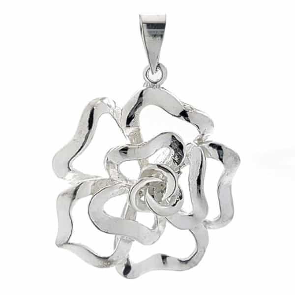 Colgante flor de plata 925