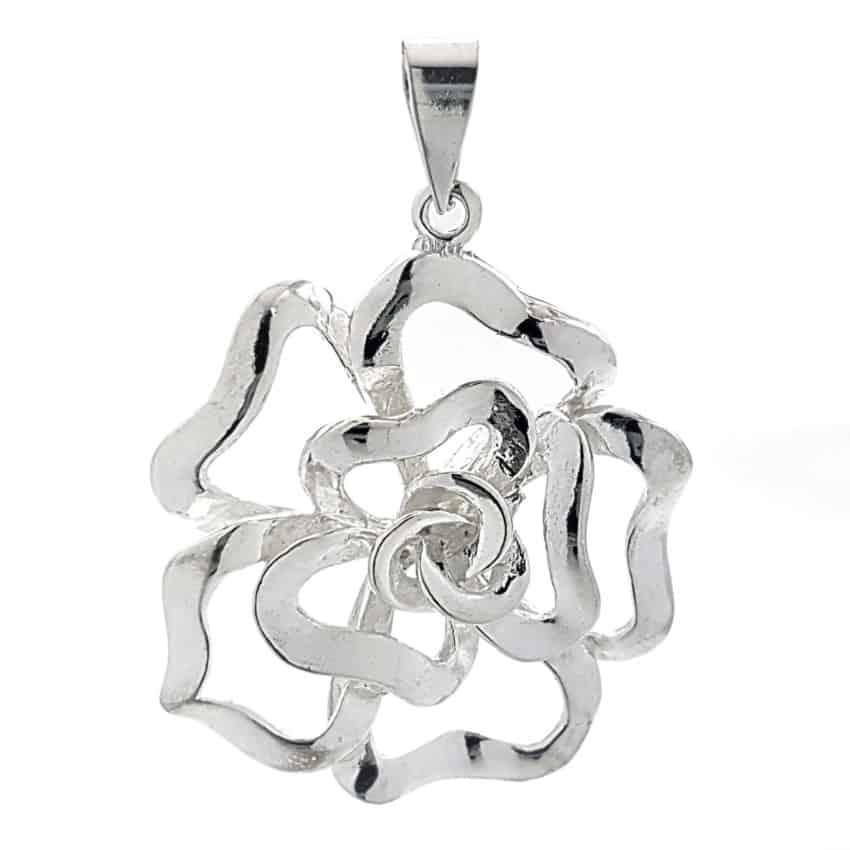 colgante flor 1– de plata