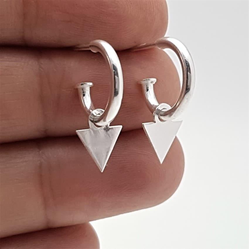 pendientes aros triángulos plata (1)
