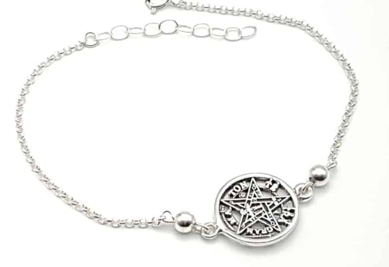 Pulsera Tetragramatón fabricada en plata de ley 925 mls