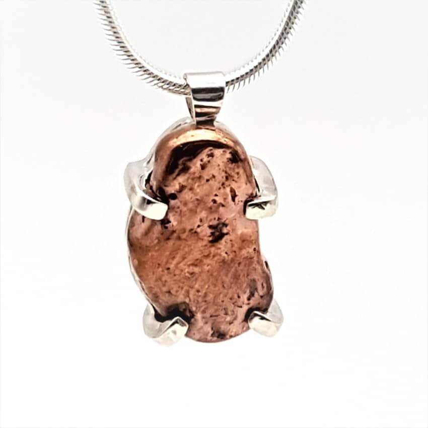 Colgante cobre nativo en plata (2)