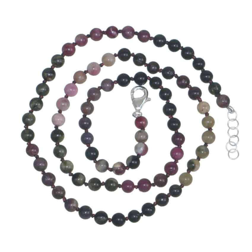 Collar bolas de turmalina (3)