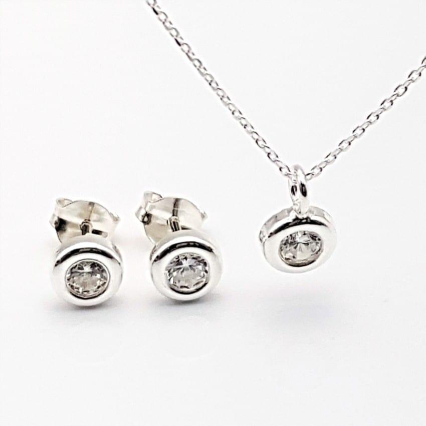 Conjunto mini circonitas en plata (3)