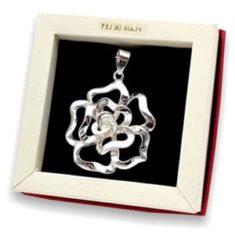 novedades en joyas de flores de plata
