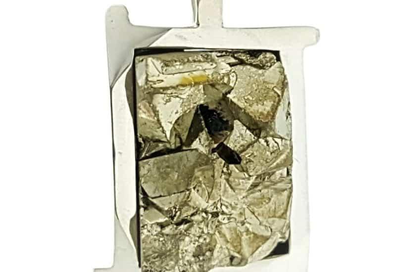 Colgante pirita plata