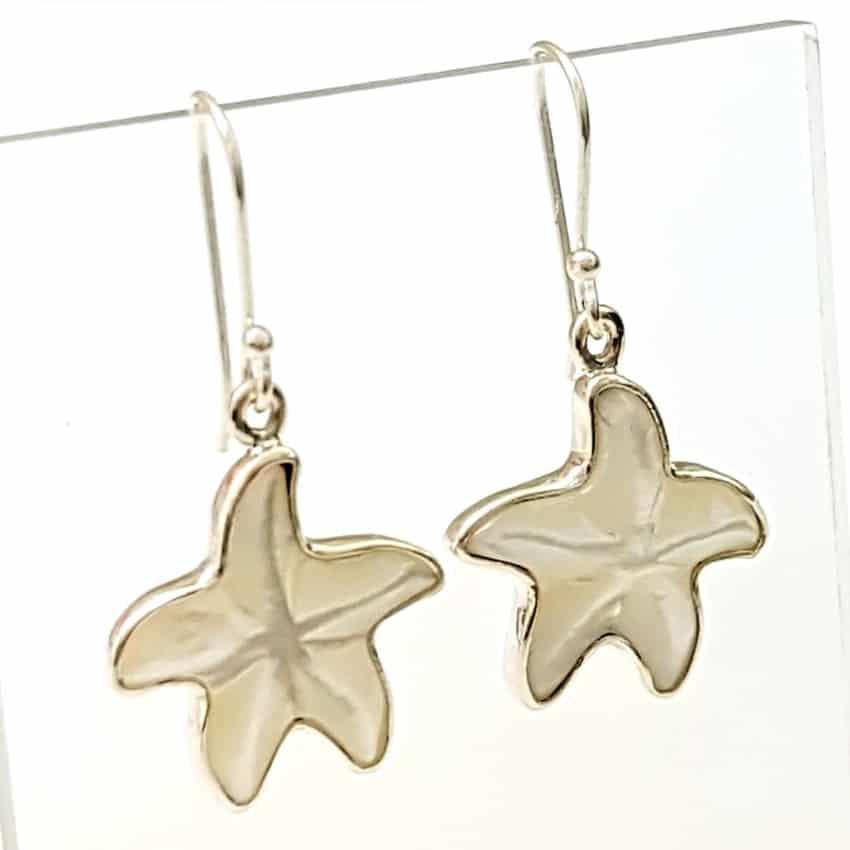 Pendientes nácar estrella de mar (3)