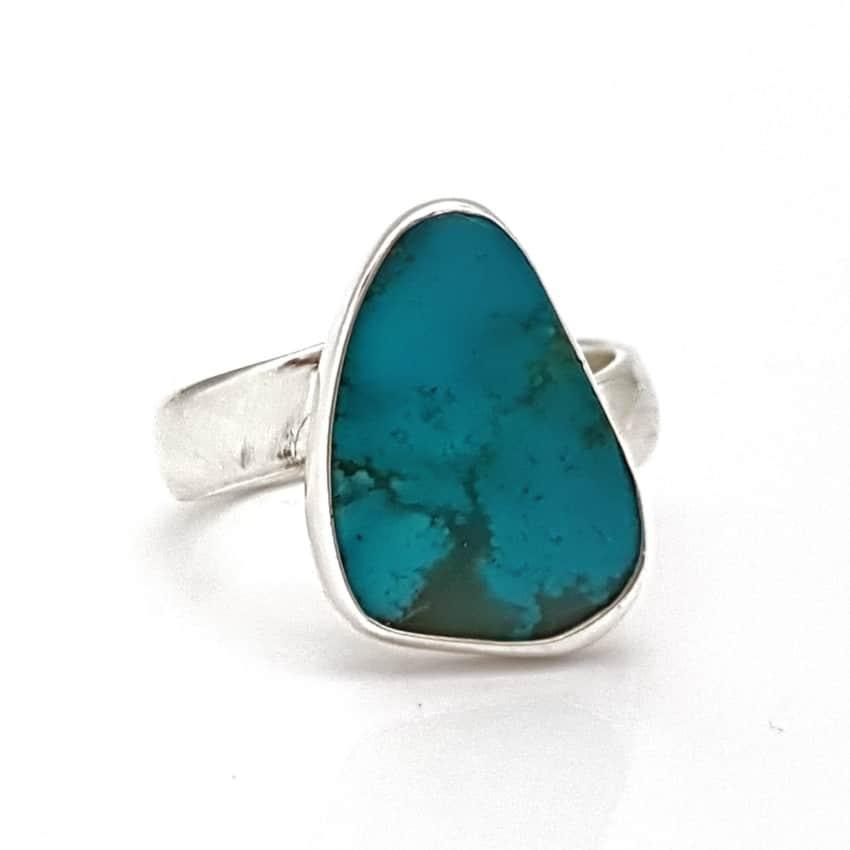 anillo turquesa natural de Arizona en plata (4)
