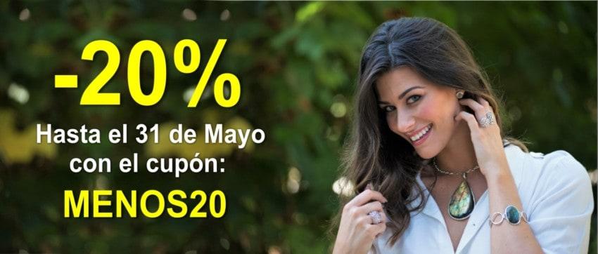 Descuento del 20 % en todos los artículos de la web con el cupón: MENOS20