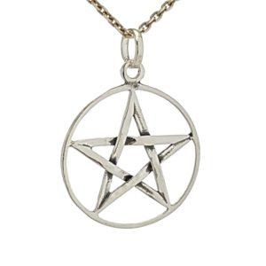 Colgante Pentagrama - estrella 5 puntas en plata