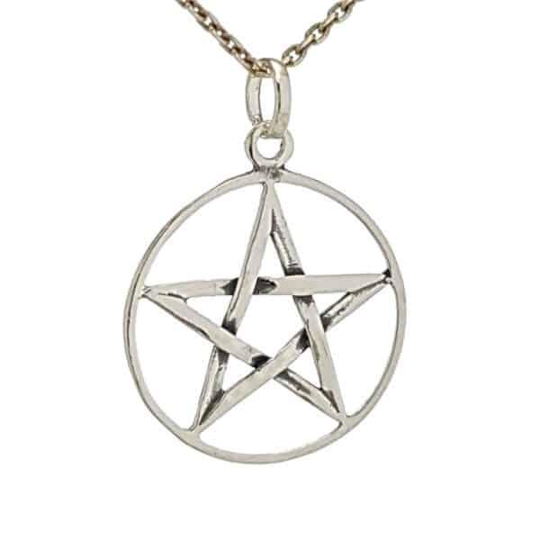 Colgante pentagrama de plata (3)