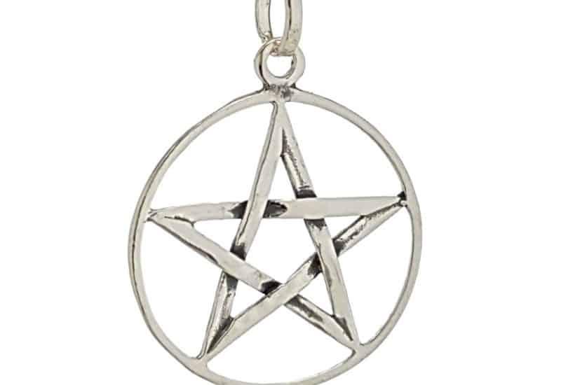 Colgante Pentagrama – estrella 5 puntas en plata