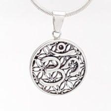 Colgante símbolo de Ohm en plata (4)