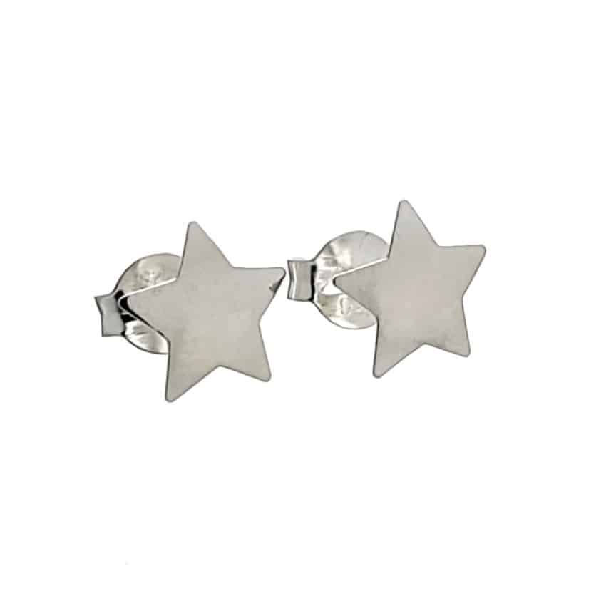 Pendientes presión estrellas de plata 925 (2)