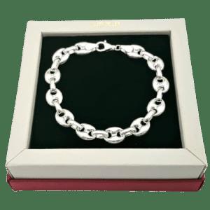 Pulsera Calabrotes fabricada en plata de ley 925 mls