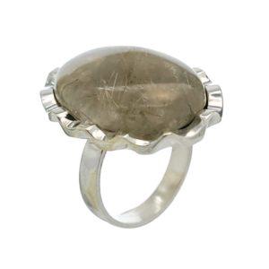 Anillo de plata con piedra Cuarzo Rutilado en talla 15