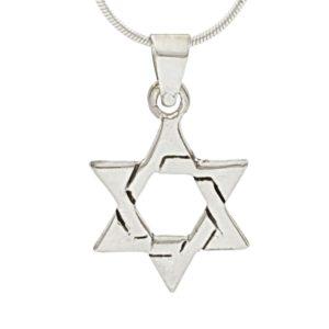 Colgante en Plata de Ley 925 mls - Estrella de David - Sello de Salomón
