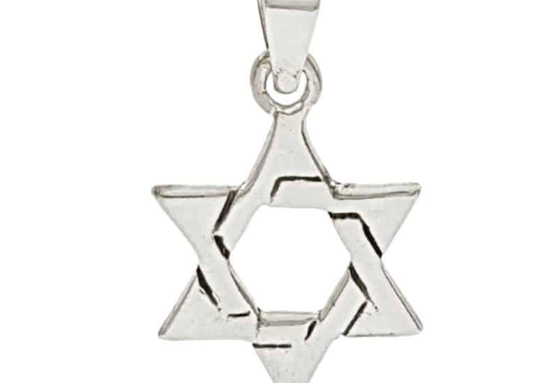 Colgante en Plata de Ley 925 mls – Estrella de David – Sello de Salomón
