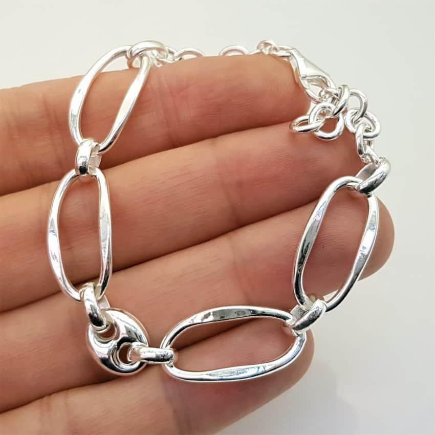 pulsera de diseño de eslabones en plata (7)