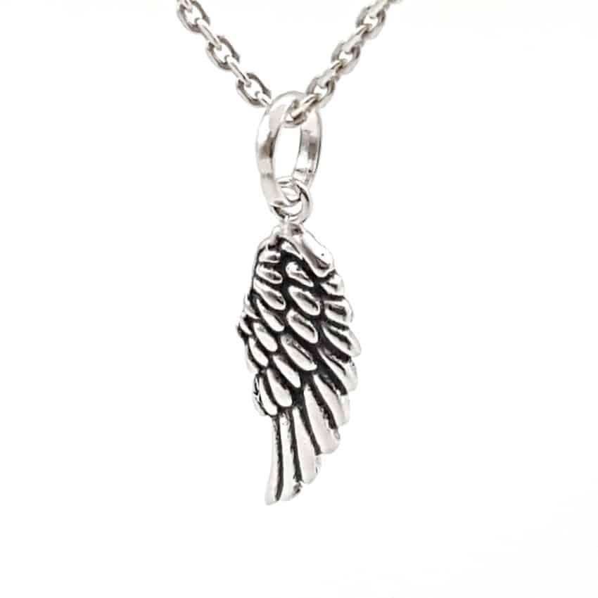 Colgante ala de plata (4)