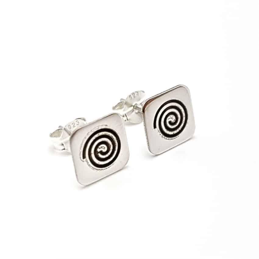 Pendientes espirales de plata (3)