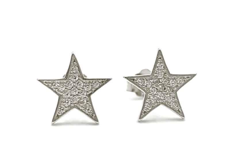 Pendientes de estrella con circonitas