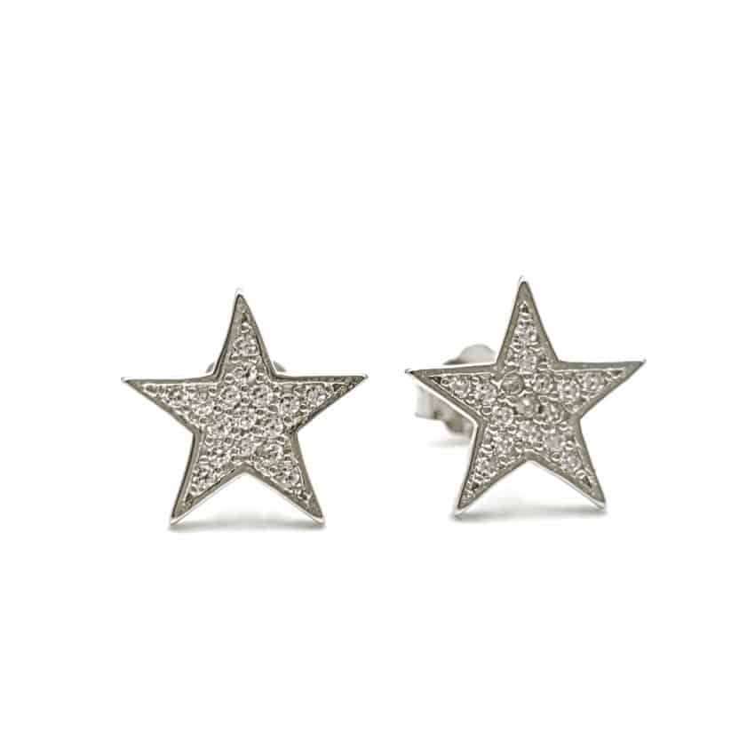 Pendientes estrella con circonitas (2)