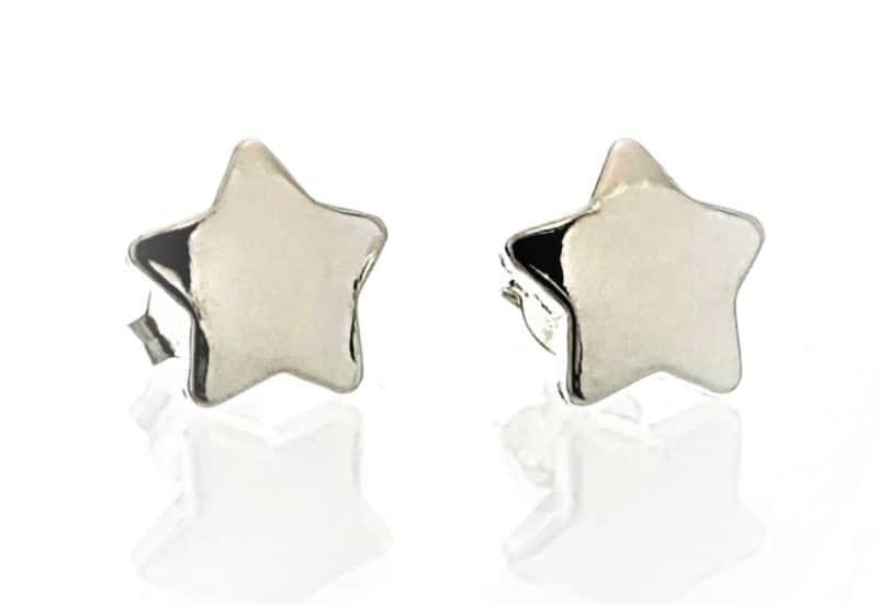 Pendientes de estrella en Plata