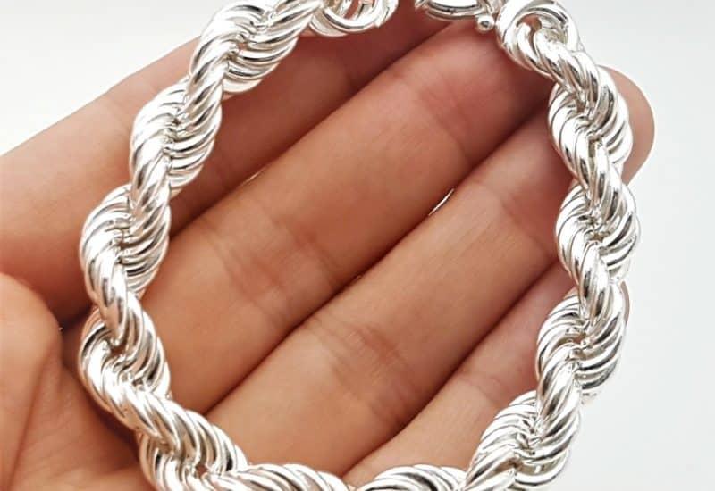 Pulsera diseño salomónico de plata