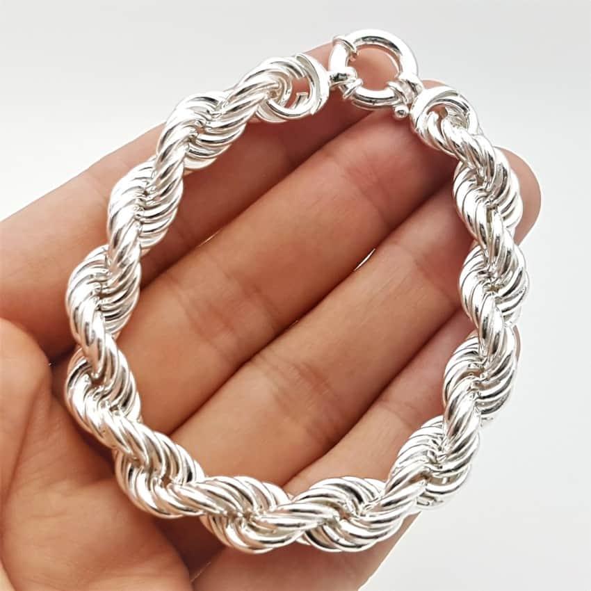 Pulsera diseño salomónico en plata (9)