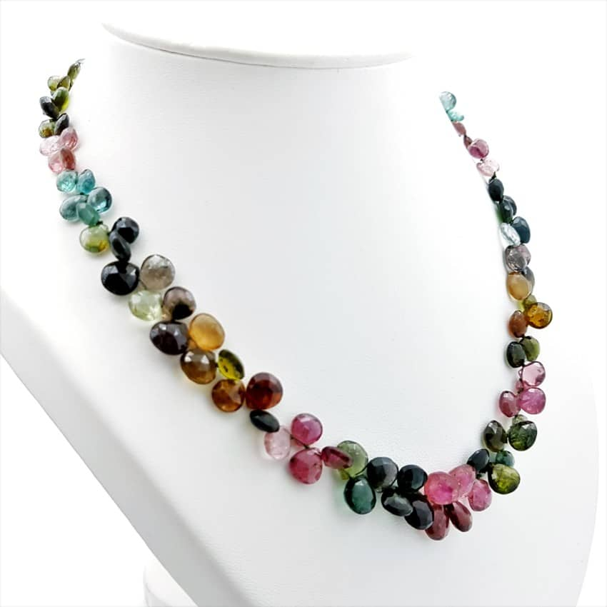 Exclusivo collar de turmalina de cinco variedades, Indigolita, Dravita, Rubelita, Verdelita y Elbaíta (9)