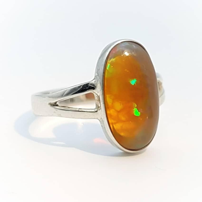 Sencillo anillo de ópalo de Etiopía (4)