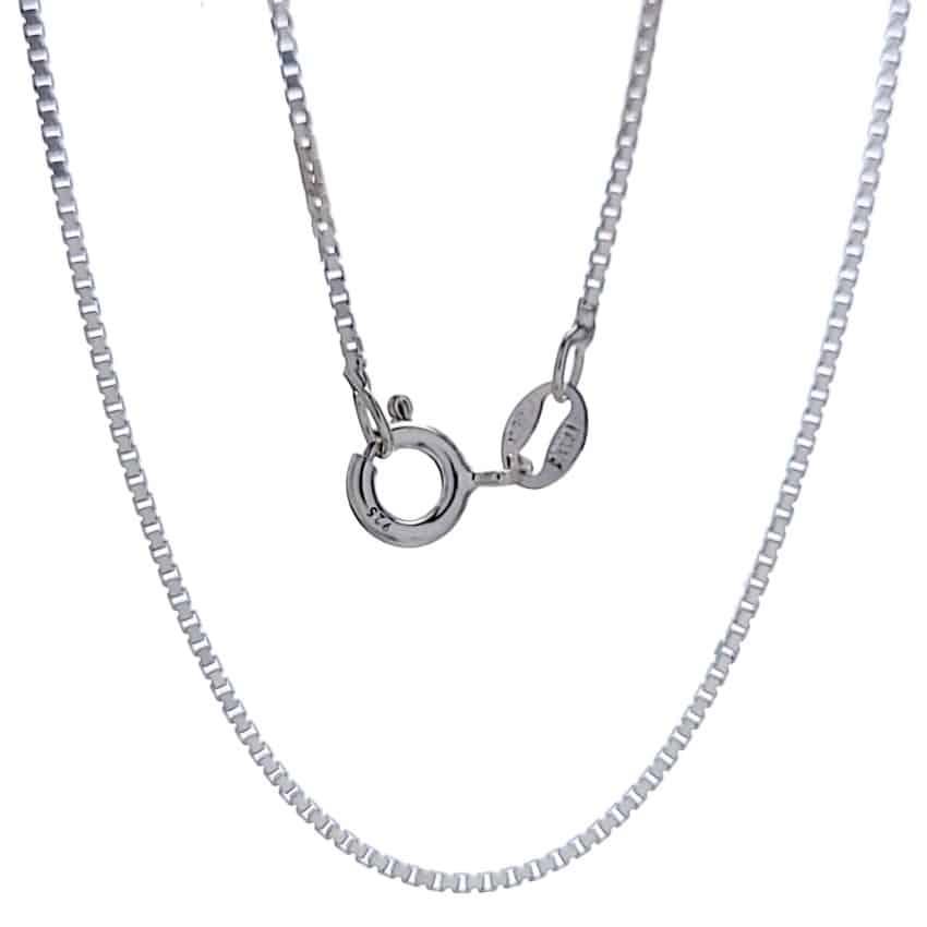 Cadena veneciana 45 cms, 2 mm de ancho, plata 925