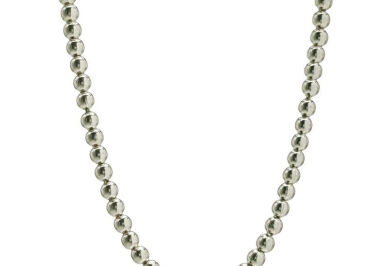 Collar bolas de plata 2,3 mm. x 45 cms. de largo