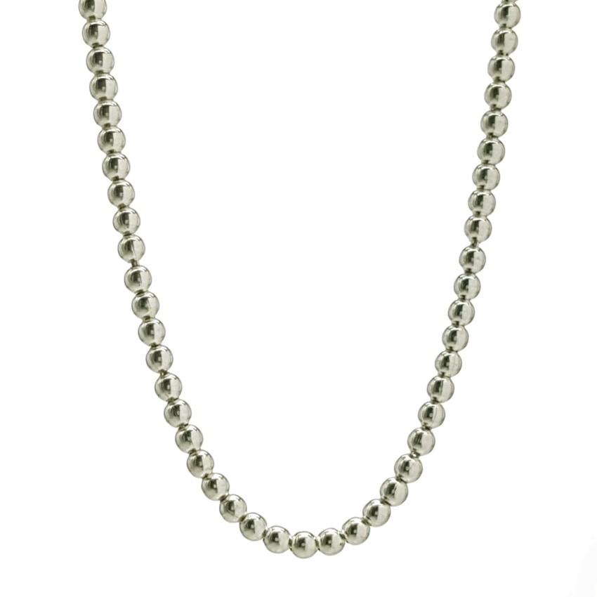 Collar bolitas de plata de 3 mm (2)