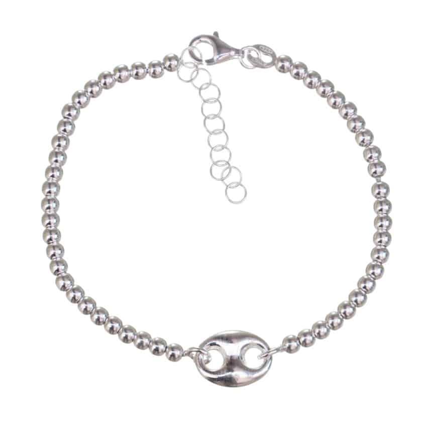 pulsera calabrote con bolas de plata (4)