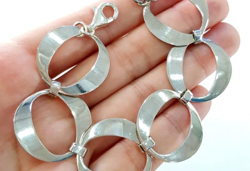 Pulsera eslabones redondos en plata