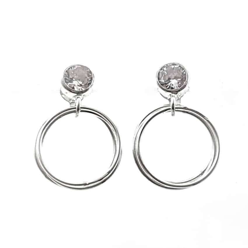 Aros plata con circonita redonda en plata (9)