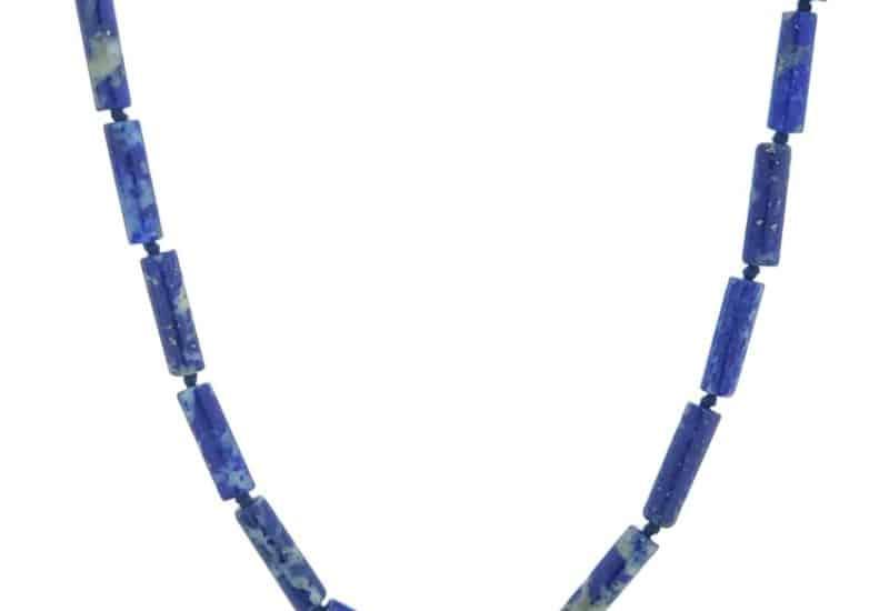 Collar cilindros de lapislázuli de 45 centímetros