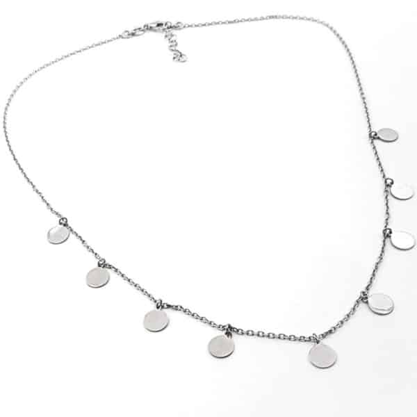 Gargantilla chapitas de plata (8)