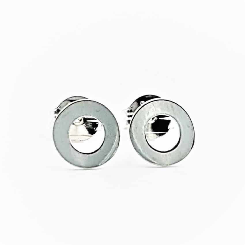 Pendientes círculos de plata (2)