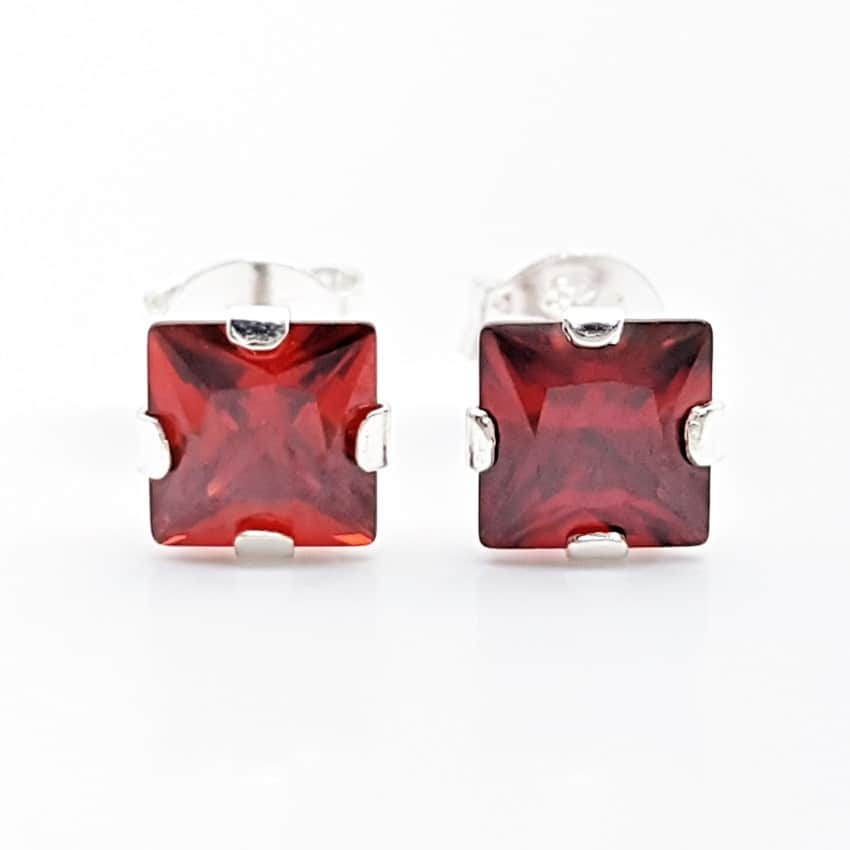 Pendientes circonita color granate (1)