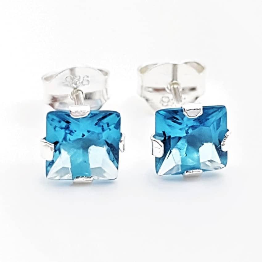 Pendientes circonitas azules plata (3)
