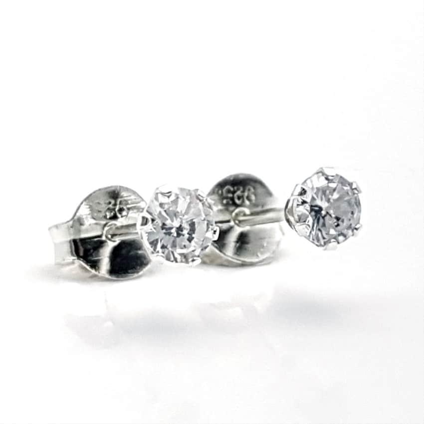 Pendientes mini circonitas plata (3)