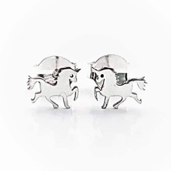 Pendientes unicornio plata (2)