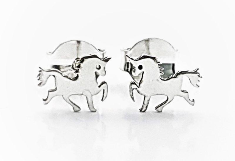 Pendientes unicornio de plata