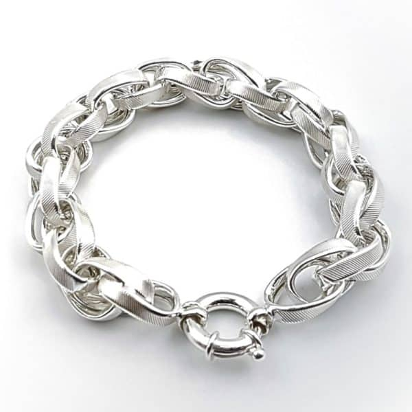 Pulsera diseño exclusivo en plata (5)