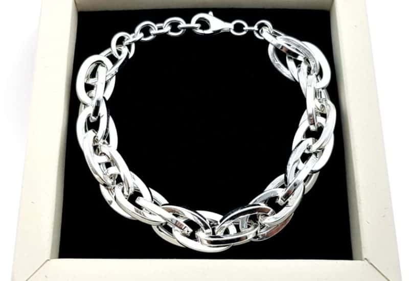 Exclusiva pulsera de ovales plata