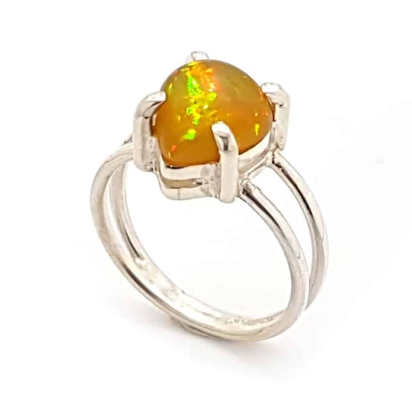anillo ópalo en plata, forma de lágrima rf (1)